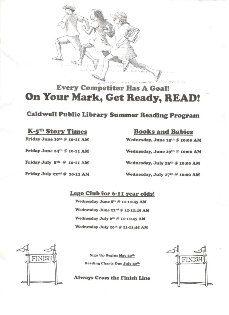 Summer Reading Program Schedule 2016